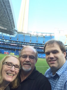 With Jan and Tyler at a Jays game.
